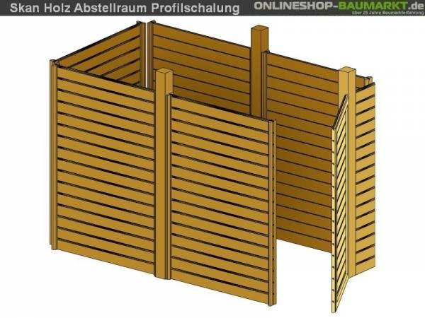 Skan Holz Abstellraum C3 für Carport 378 x 164 cm Profilschalung
