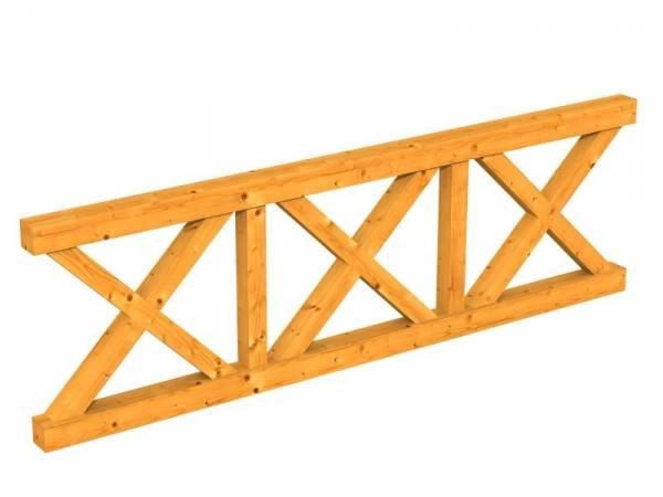Skan Holz Brüstung für Pavillons 270 cm Andreaskreuz in eiche hell
