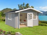 Weka Gartenhaus 401 Gr. 2 hellgrau 40 mm