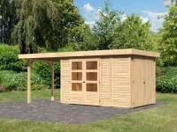 Karibu Woodfeeling Gartenhaus Retola 3 mit Anbaudachdach 2,40 Meter