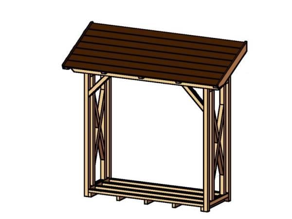 Skan Holz Wandanbau Holzunterstand Paul 1 in Mahagoni