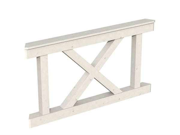 Skan Holz Brüstung für Pavillons 150 cm Andreaskreuz in weiß