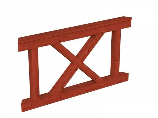 Skan Holz Brüstung für Pavillons 150 cm Andreaskreuz in mahagoni
