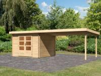 Karibu Woodfeeling Gartenhaus Bastrup 5 mit Schleppdach 4 Meter