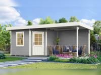 Weka Gartenhaus 213 Plus Gr 1 grau Anbau 300 cm