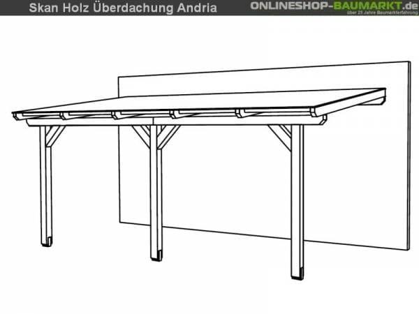 Skan Holz Terrassenüberdachung Andria 541 x 300 cm Leimholz