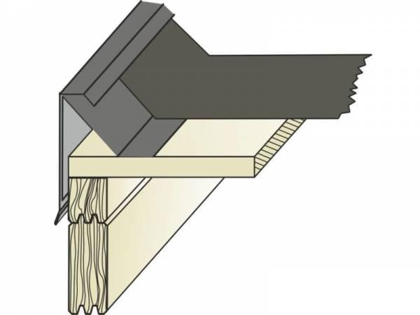 EPDM Flachdachblende Typ 10, außen - 1 Stück