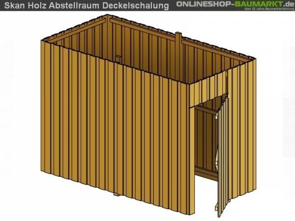 Skan Holz Abstellraum A6 für Carport 573 x 317 cm Deckelschalung