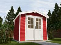 Weka Gartenhaus 218 Größe 4 schwedenrot 28 mm