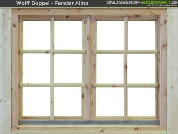Wolff Finnhaus Doppelfenster Alina 70 Isoliert