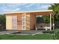 Weka Gartenhaus 321 Größe 1 mit Anbaudach 230 cm