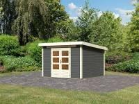 Karibu Woodfeeling Gartenhaus Kandern 6,5 terragrau