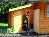 Wolff Finnhaus Anbauschuppen 28-A natur