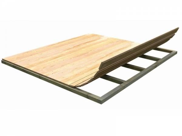 Fußboden für Sockelmaß 2,50 x 2,50 m