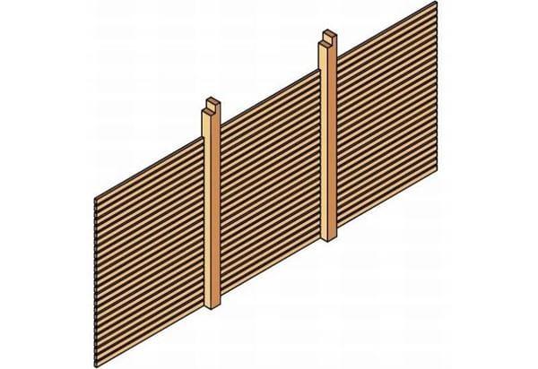 Skan Holz Rückwand für Carport 550 x 160 cm Rhombusprofil
