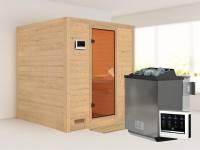Mojave - Karibu Sauna inkl. 9-kW-Bioofen - ohne Dachkranz -