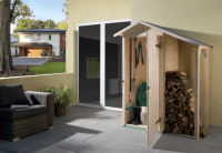 Weka Geräteschrank mit Schleppdach und Einzeltür