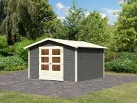 Karibu Woodfeeling Gartenhaus Amberg 6 terragrau