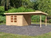 Karibu Woodfeeling Gartenhaus Bastrup 7 mit Schleppdach 3 Meter