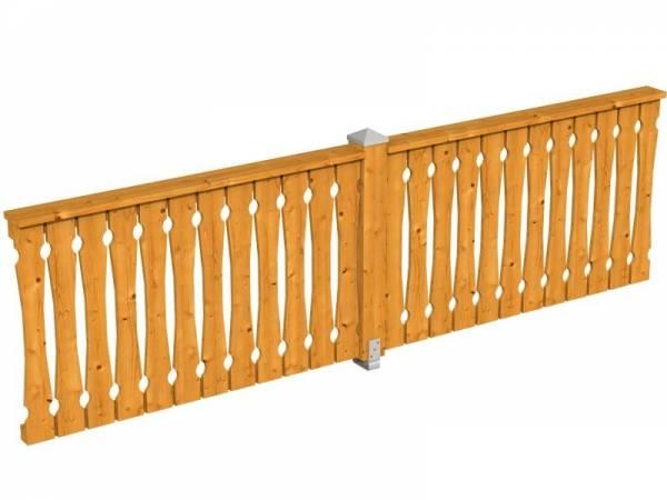 Skan Holz Brüstung für Pavillons 335 cm Balkonschalung in eiche hell