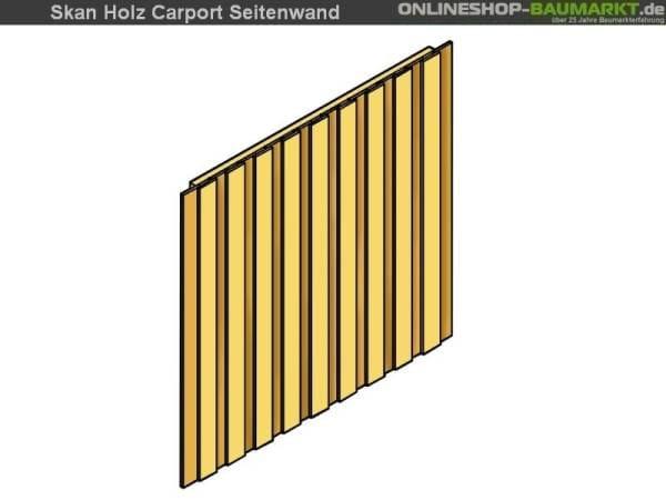 Skan Holz Seitenwand für Carport 141 x 180 cm Deckelschalung