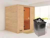 Mojave - Karibu Sauna inkl. 9-kW-Ofen - ohne Dachkranz -