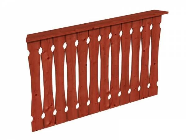 Skan Holz Brüstung für Pavillons 150 cm Balkonschalung in mahagoni