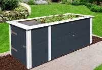 Weka Hochbeet 669 mit Ablagefläche und Abstellraum 205 x 79 cm anthrazit