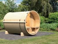 Karibu Fass - Sauna 2 42 mm ohne Ofen - Saunahaus