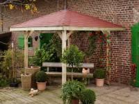 Weka Pavillon Gartenoase 651 Größe 1 Sparset