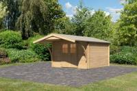 Karibu Gartenhaus Buxtehude 4 mit Vordach 1,80 m
