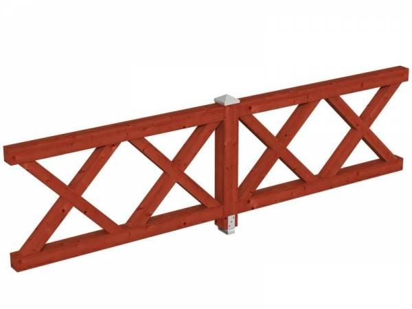 Skan Holz Brüstung für Pavillons 335 cm Andreaskreuz in mahagoni