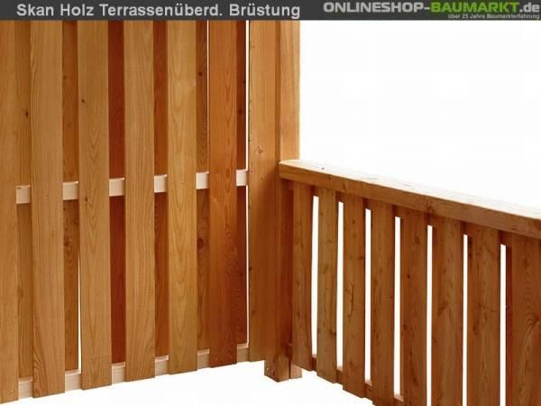 Skan Holz Brüstung für Terrassenüberdachung 170 cm Deckelschalung