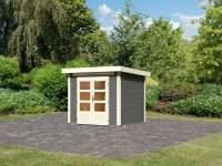 Karibu Woodfeeling Gartenhaus Kandern 2 terragrau