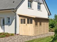 Karibu Gartenhaus Wandlitz 4 natur 19 mm
