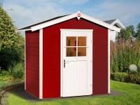 Weka Gartenhaus 223 Größe 1 mit Einzeltür schwedenrot