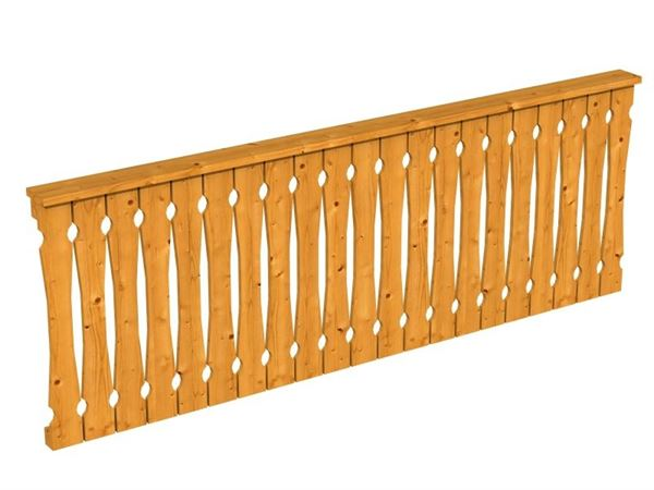 Skan Holz Brüstung in eiche hell für Pavillon 270 cm Balkonschalung