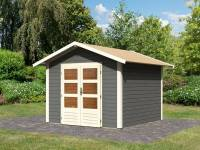 Karibu Woodfeeling Gartenhaus Talkau 6 in terragrau 28 mm