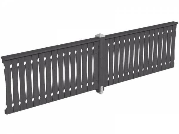 Skan Holz Brüstung für Pavillons 400 cm Balkonschalung in schiefergrau