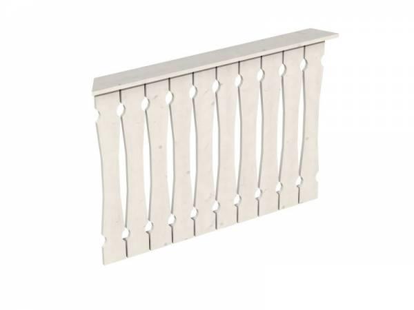 Skan Holz Brüstung für Pavillons 120 cm Balkonschalung in weiß