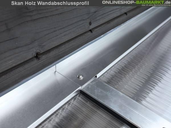 Skan Holz Wandabschlussprofil für Terrassenüberdachungen mit 327 cm Breite