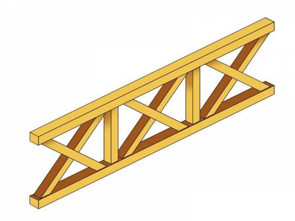Skan Holz Brüstung für Pavillons 270 cm Andreaskreuz