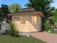 Weka Gartenhaus 149 5-Eck Gr. 1 mit Dach