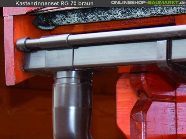 Dachrinnenverlängerung K0A für RG 70, braun, 200 cm - Typ B