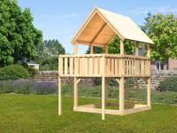 Akubi Spielturm Luis Satteldach + Anbauplattform