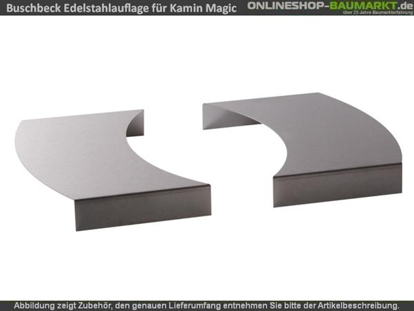 Buschbeck Edelstahlauflage 2er-Set für Grillkamin Magic