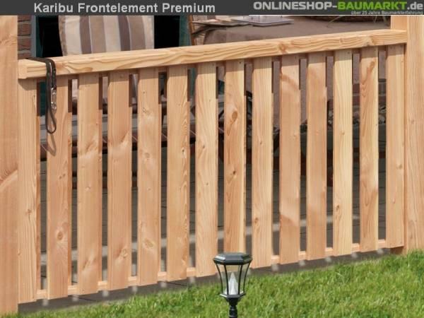 Karibu Brüstung für Terrassenüberdachung Premium