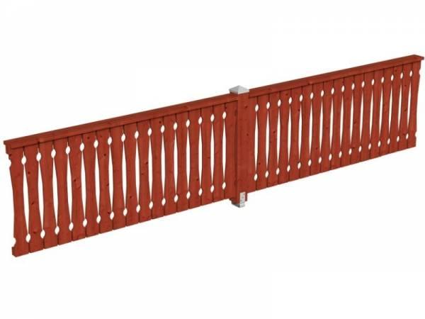 Skan Holz Brüstung für Pavillons 465 cm Balkonschalung in mahagoni