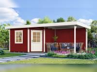 Weka Gartenhaus 5-Eck-Haus 213 Gr 2 schwedenrot Anbau 300 cm