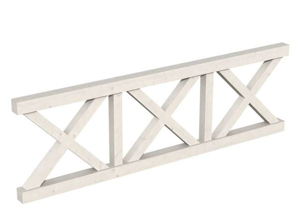 Skan Holz Brüstung für Pavillons 270 cm Andreaskreuz in weiß